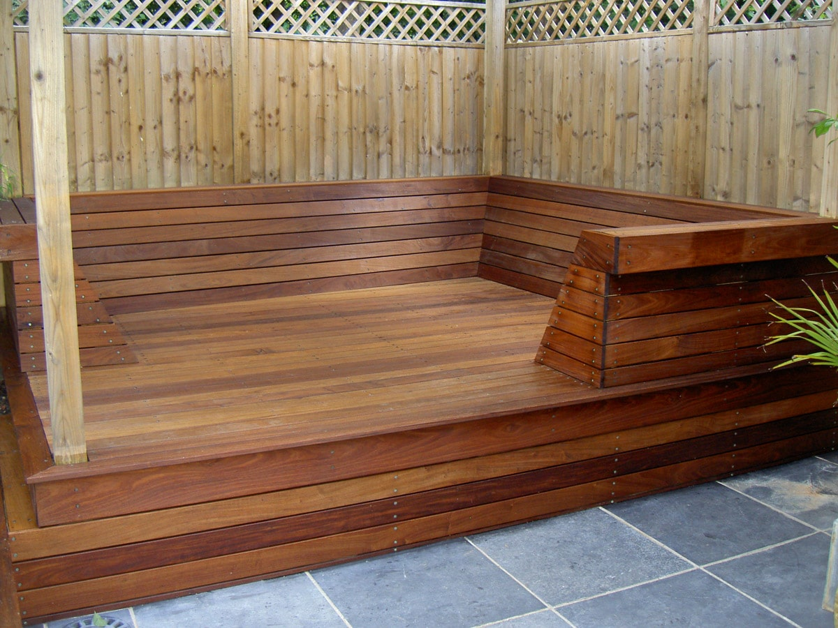 5 amazing decking transformations with textrol owatrol for End of garden decking ideas