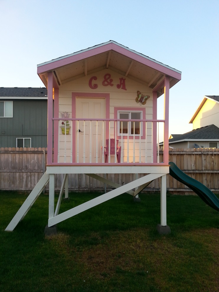 Great children 39 s wooden playhouse ideas owatrol direct for Outdoor playhouse designs