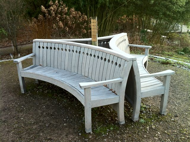 Bench finished with Textrol in shade weathered grey