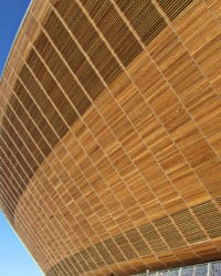 International Velodrome wooden cladding