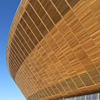 International Velodrome wooden cladding