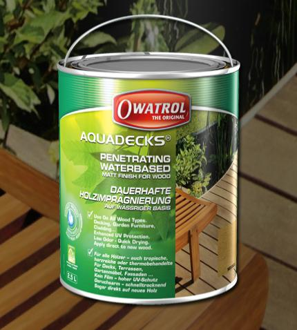 Water Based Wood Stain Aquadecks Owatrol Direct