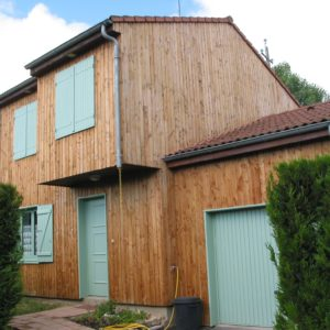 Aquatrol applied to wood cladding