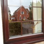 After application of Polytrol on window frame