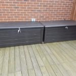 After application of Polytrol on storage box