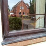 Before application of Polytrol on window frame