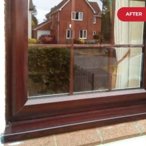 After application on Polytrol on window frames