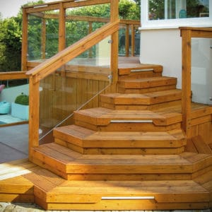 Aquatrol applied to a staircase