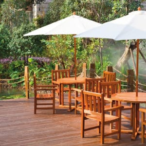 Aquatrol applied to garden furniture