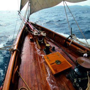 Deks Olje D2 on a boat