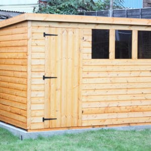 Apply Seasonite to a new garden shed