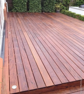 D1 Pro used on a garden deck by R&A Pressure Washing Ltd