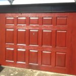 After application of Polytrol on garage door