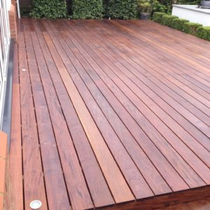 Ipe Decking protected with D1 Pro