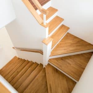 Oleofloor application on stairwell