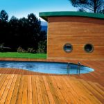 Decking inspiration next to pool