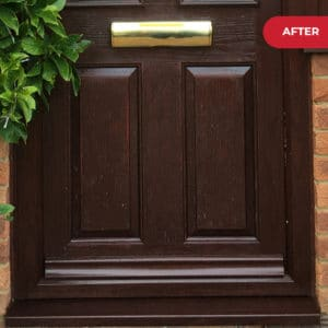 After application of Polytrol on composite door