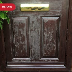 Before application of Polytrol on composite door