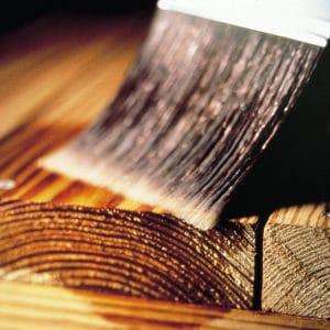 Seasonite being applied to wood