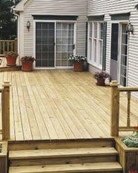 Seasonite applied to new wood decking