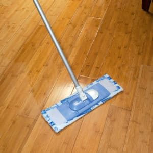 Soapclean used on hardwood flooring