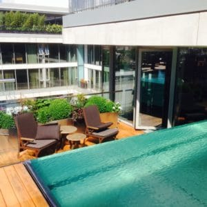 Aquatrol applied to decking in Knightsbridge, London