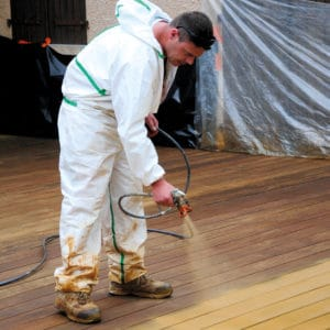 Application of Tropitech on a deck