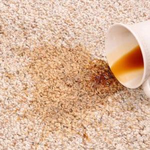 Tea spill on carpet
