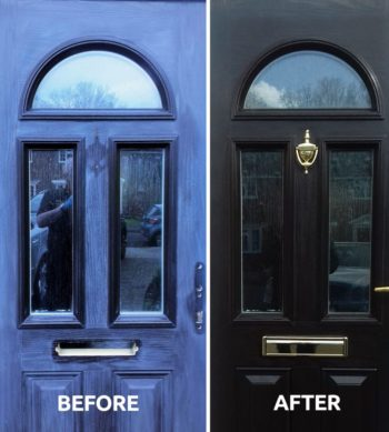 revive a composite front door with Polytrol