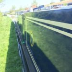 After application of Polytrol on a narrowboat