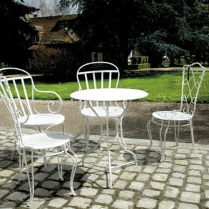 White Owatrol Deco on garden furniture