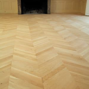 Vegafloor applied to hardwood flooring