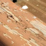 how to remove peeling ronseal stain