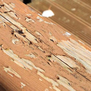 External wood in need of a good quality deck treatment