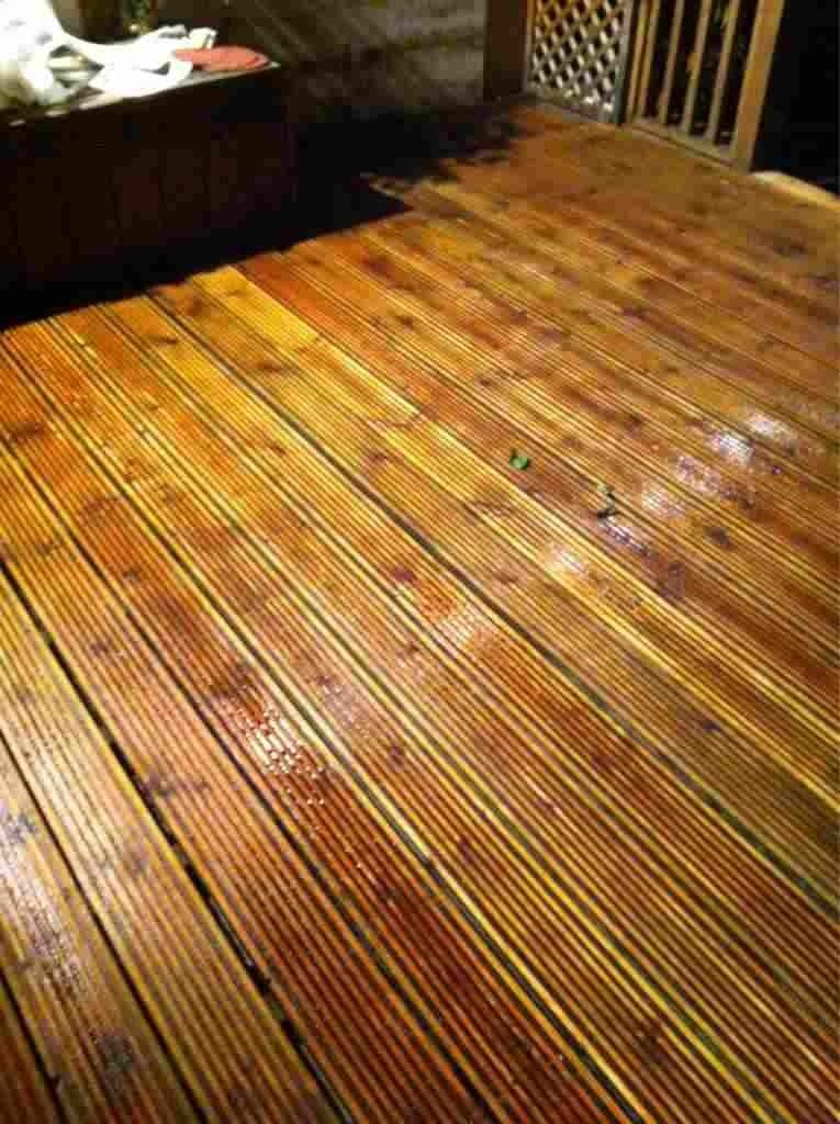 Decking after Prepdeck has been applied