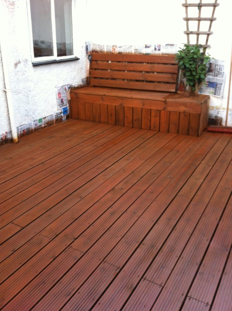 Decking after Textrol has been applied