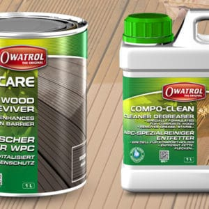 Compocare and compoclean packaging