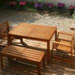 Aquadecks on garden furniture
