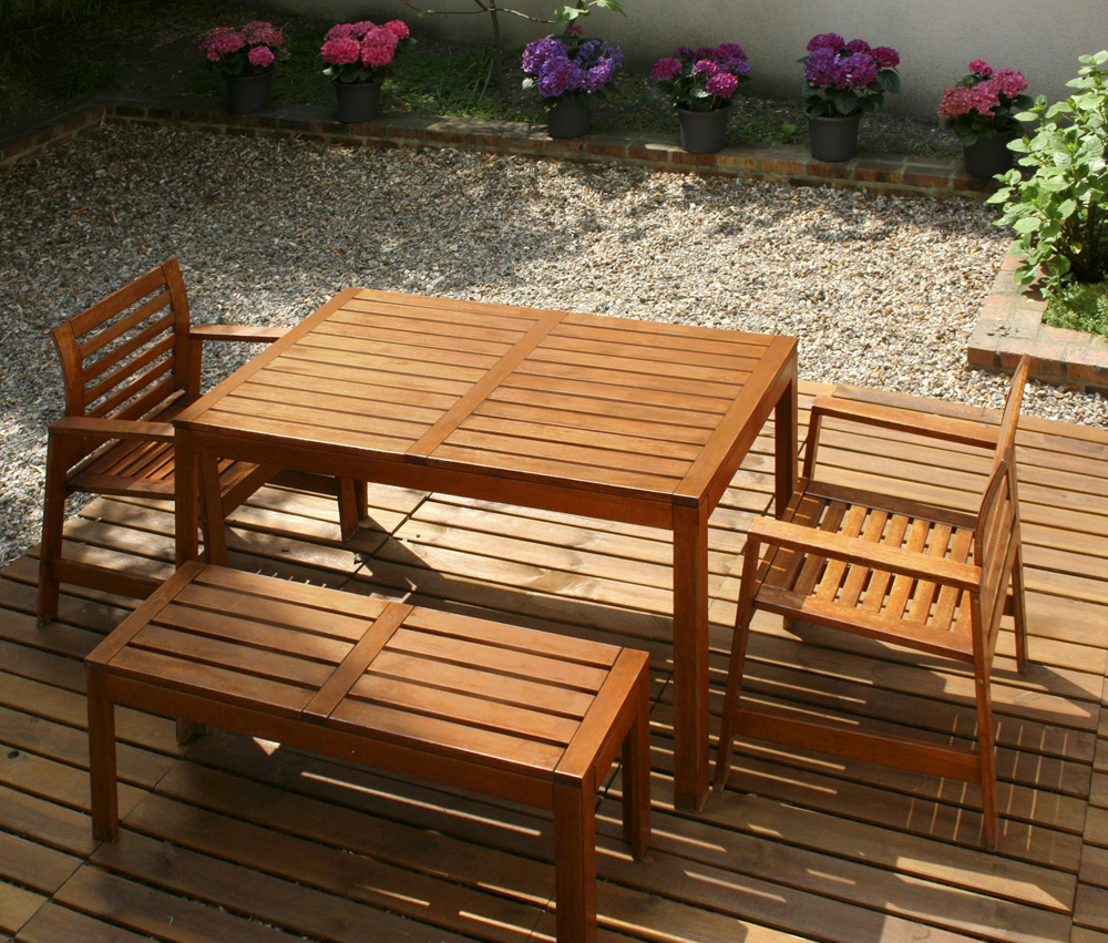Aquadecks on garden furniture