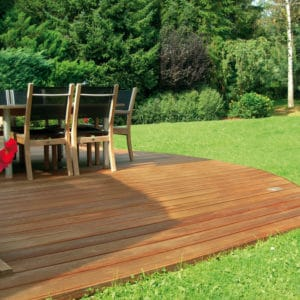 water-based finish Aquadecks on a wooden deck