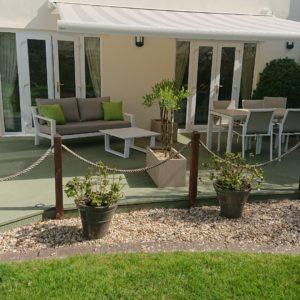 Garden deck after application of Decking Paint by Ian Ferguson