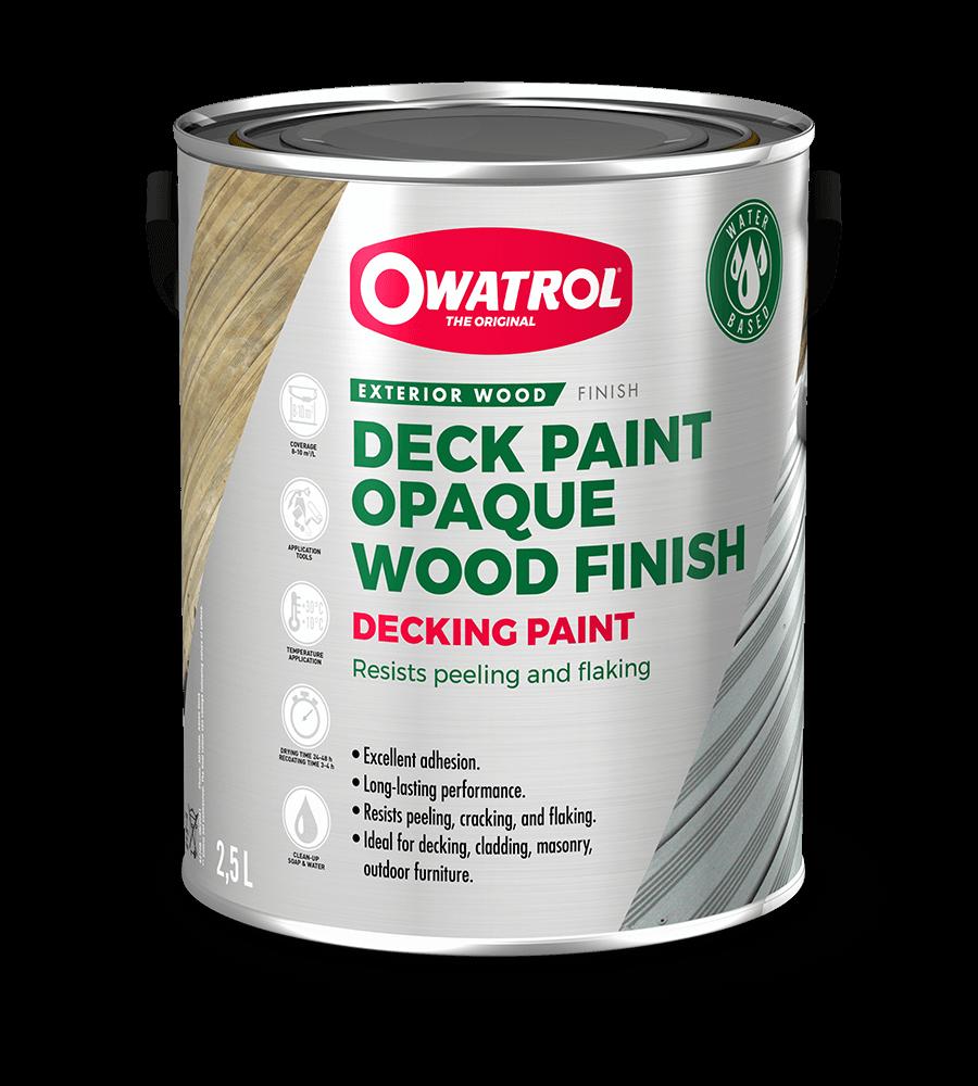 Owatrol Decking Paint packaging
