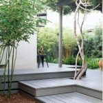 Colour stained decking