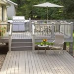 grey stained decking