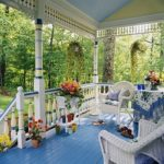 blue stained decking