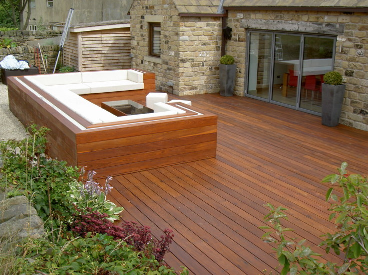 Why not build in some seating to your deck?