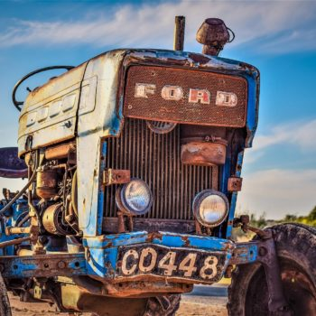 owatrol oil used on a vintage tractor