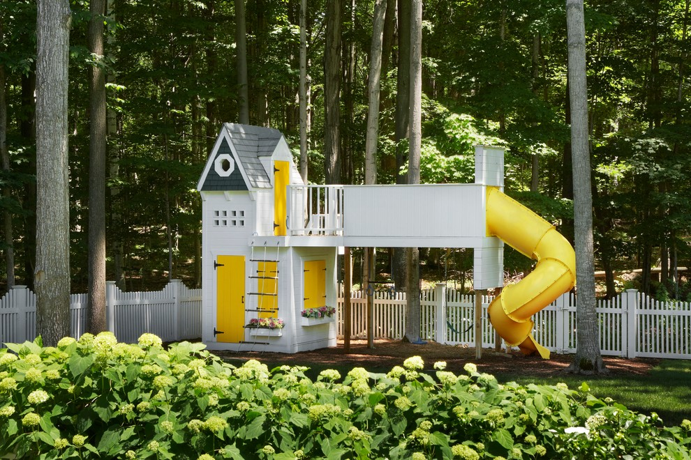Great Childrens Playhouse Ideas on 2 Story Octagon House Plans