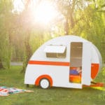 quirky childrens caravan playhouse