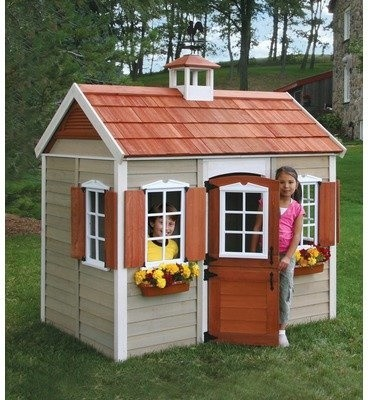 How to decorate your child 39 s wooden playhouse owatrol direct for How to make a playhouse out of wood